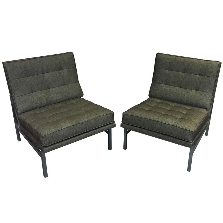 Pair of Florence Knoll Lounge Chairs for Knoll, circa 1960s