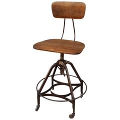 Early Industrial Toledo Drafting Stool