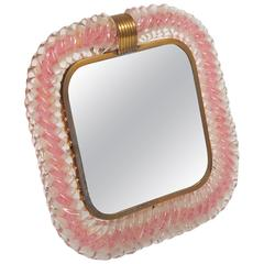 1960s Italian Pink Frame by Barovier e Toso