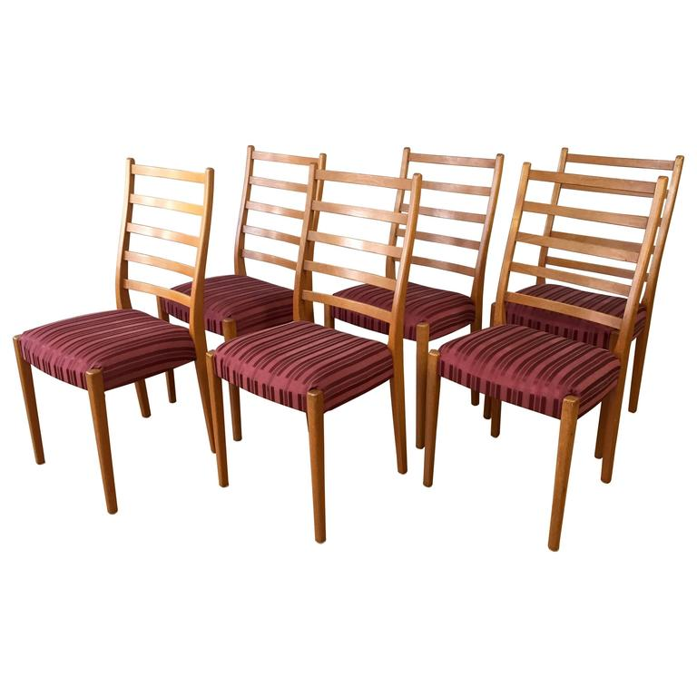 Set Of Six Svegards Markaryd High Back Teak Dining Chairs Saturday Sale At