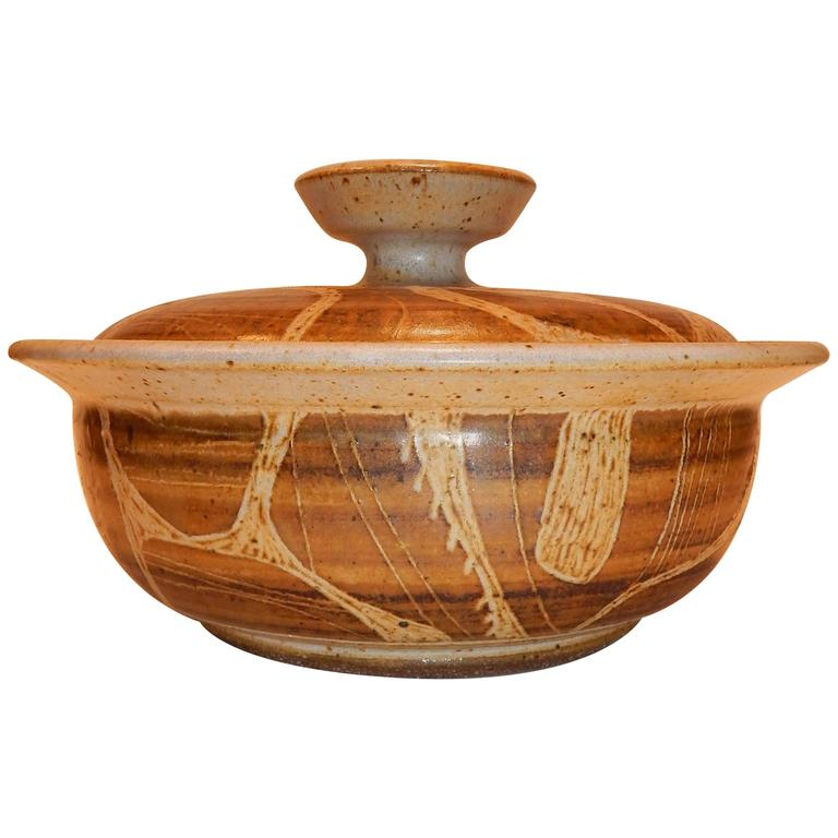 Joel Edwards Lidded Vessel, California Studio Pottery