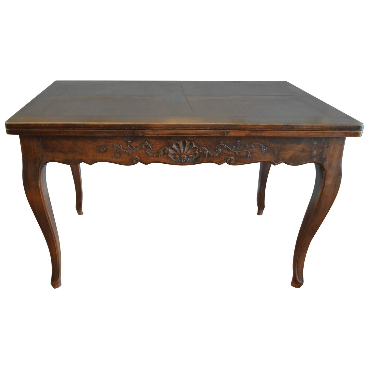 French country style walnut dining table at 1stdibs for Country style dining table