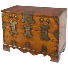 19th Century Hand Hewn Korean Chest