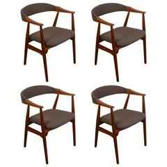 Set of Four Vintage Danish Teak Dining Chairs