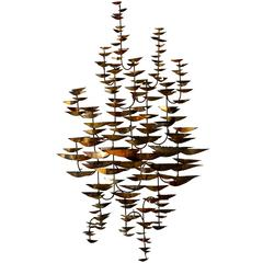 A Classic Mid Century Copper Wall Mounted Vine Sculpture C.1965
