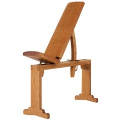 Asa Pingree Tidewalker Workout Bench, Quartersawn White Oak with Brass Hardware