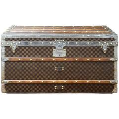 1900s Louis Vuitton Steamer Damier Canvas Trunk