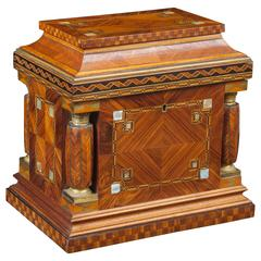 Jeweller box in Rosewood Marquetry with Mother Pearl Applications, circa 1930