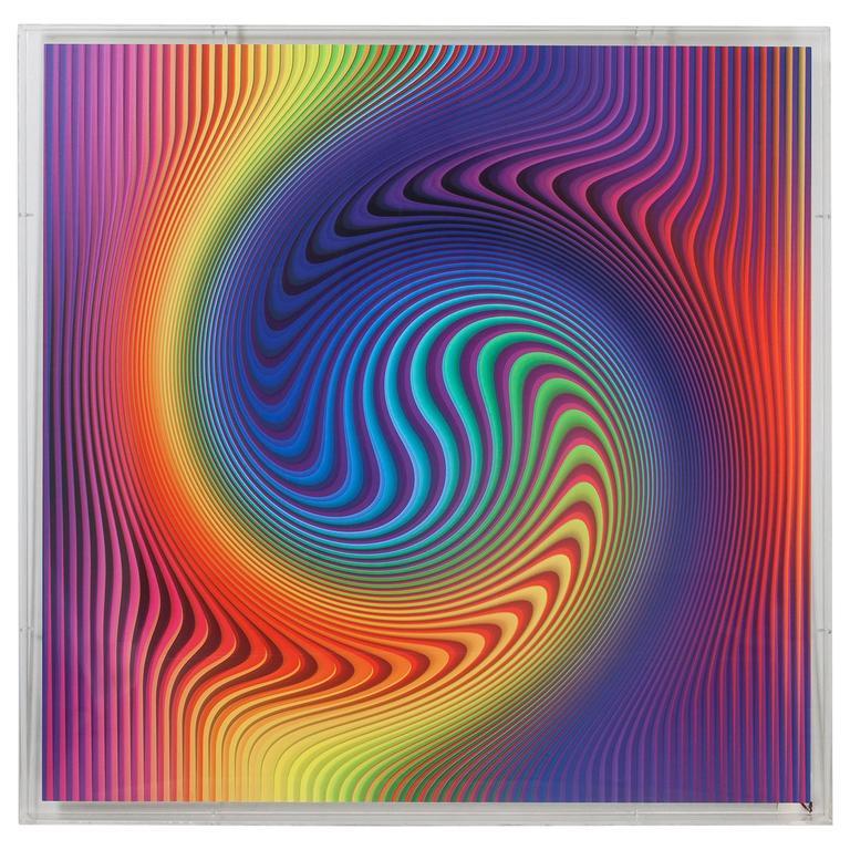 Yanel Sánchez 2015 Optical Art, Digital Print on Aluminum 1