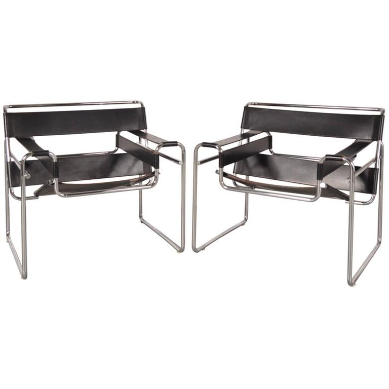 Set of Two  Wassily  Chairs by Marcel Breuer for Gavina Italy circa  sc 1 st  1stDibs : wassily chairs - lorbestier.org