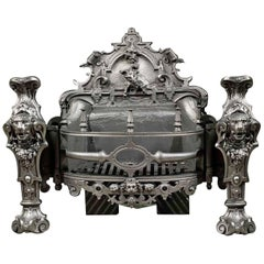 Rare Coalbrookdale Cast Iron Antique Firegrate