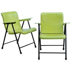 Russel Wright Folding Steel Armchairs