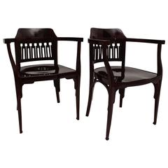 Armchairs No 714 by Jacob & Josef Kohn Attributed to Otto Wagner, Austria, 1902