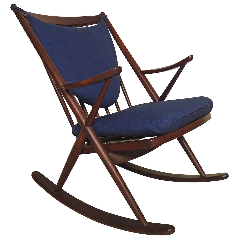 frank reenskaug vintage modern walnut rocking chair for sale at 1stdibs. Black Bedroom Furniture Sets. Home Design Ideas