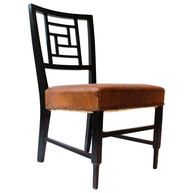 E W Godwin. An Anglo-Japanese Ebonized Side Chair Probably Made by William Watt For Sale