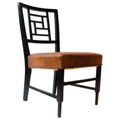 E W Godwin. An Anglo-Japanese Ebonized Side Chair Probably Made by William Watt