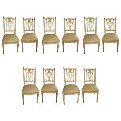 Set of Ten Maison Jansen Dining Chairs