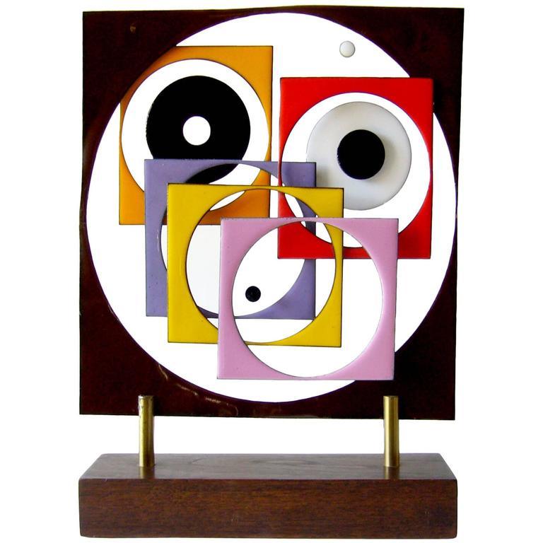Cappelletti Enamel On Wood Abstract Modern Shelf Sculpture