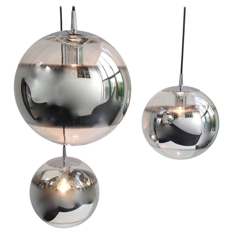 Three Amazing Glass Globes with Integrated Mirror, Anno, 1960 1