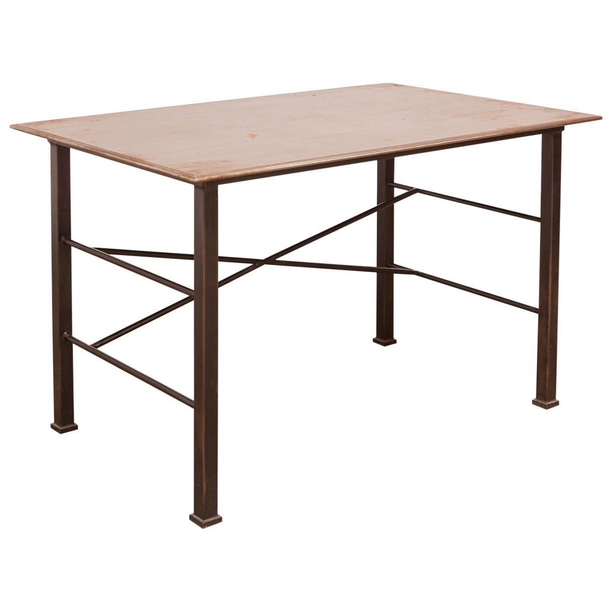 Modern Industrial Steel Desk Work Table