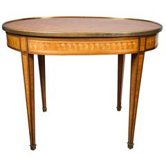 Oval Occasional Louis XVI Style Parquetry Table