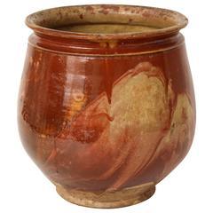 19th Century French Jaspé Marbleized Cachepot