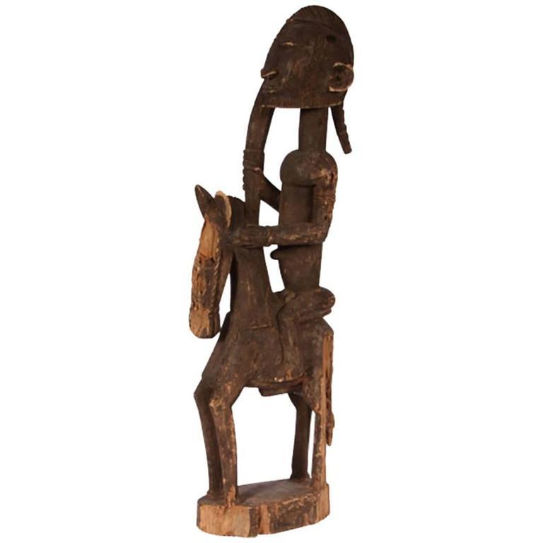 Dogon tribe horseman sculpture at stdibs