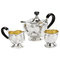 Bud Tea Service by Otto Prutscher and Wiener Silber Manufactur