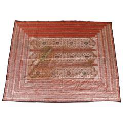 Indian Silk Sari Tapestry Quilt Patchwork