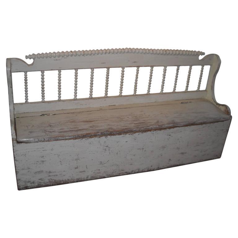 Original Painted Spindle Back Bench At 1stdibs