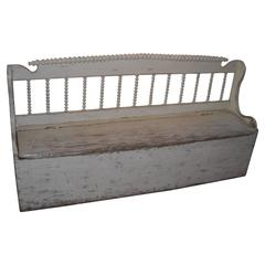 Original Painted Spindle Back Bench