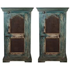 Pair of Vintage Painted Cabinets