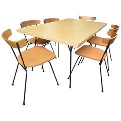Clifford Pascoe Expandable Dining Table and Six Chairs for Modernmasters