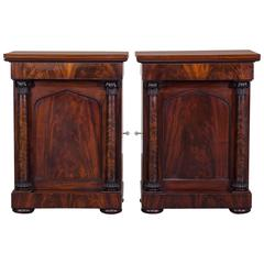 Pair of Antique English Neoclassical Mahogany Cabinets William IV, circa 1835