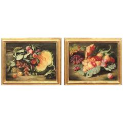 Original Pair of Dutch Master Style Still Life Oil Paintings