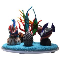 """""""Barrier Reef Modern Style"""" Version Six Mixed-Media Murano Glass"""