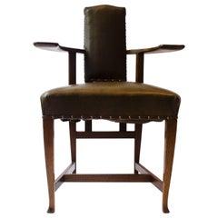 George Walton. An Arts & Crafts Glasgow School Oak 'Abingdon' Armchair.