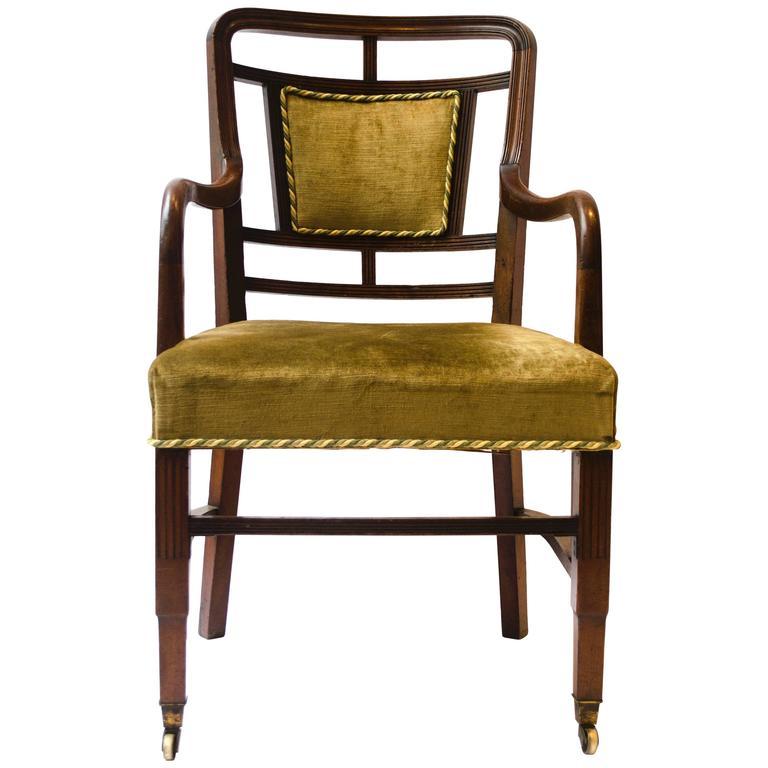 E W Godwin. Anglo-Japanese Walnut Armchair Made by William Watt