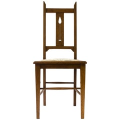 E A Taylor An Arts & Crafts Scottish School Oak Chair Made by Wylie and Lochhead