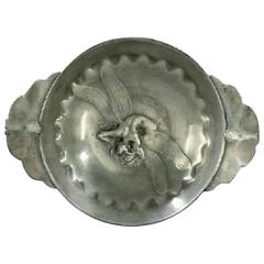 Jules Desbois, A.-A. Hébrard, a Pewter Bowl with a Fantastic Dragonfly