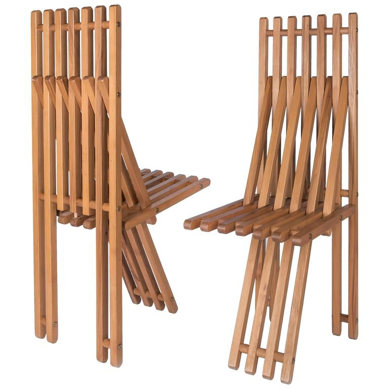Folding Chairs By Capitini And Palmoni At 1stdibs