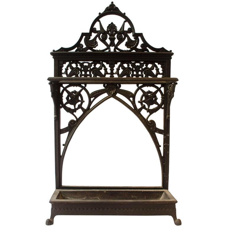 Dr C Dresser An Aesthetic Movement Cast Iron Stick Stand Made By Coalbrookdale For Sale