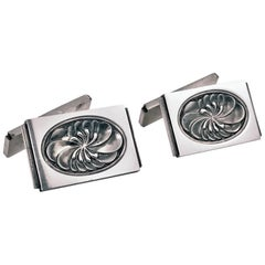 Georg Jensen Sterling Cufflinks, Denmark, Post 1945