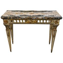 Fine 19th Century Italian Onyx Topped Neoclassical Console Table