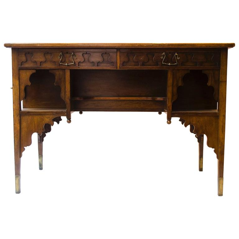 Edward William Godwin for William Watt, An Anglo-Japanese Walnut Desk.