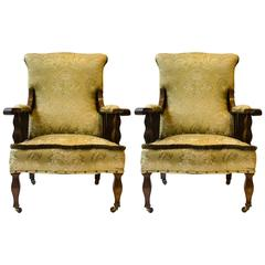 Morris and Co. A Pair of Mahogany Saville Armchairs. Designed by George W Jack