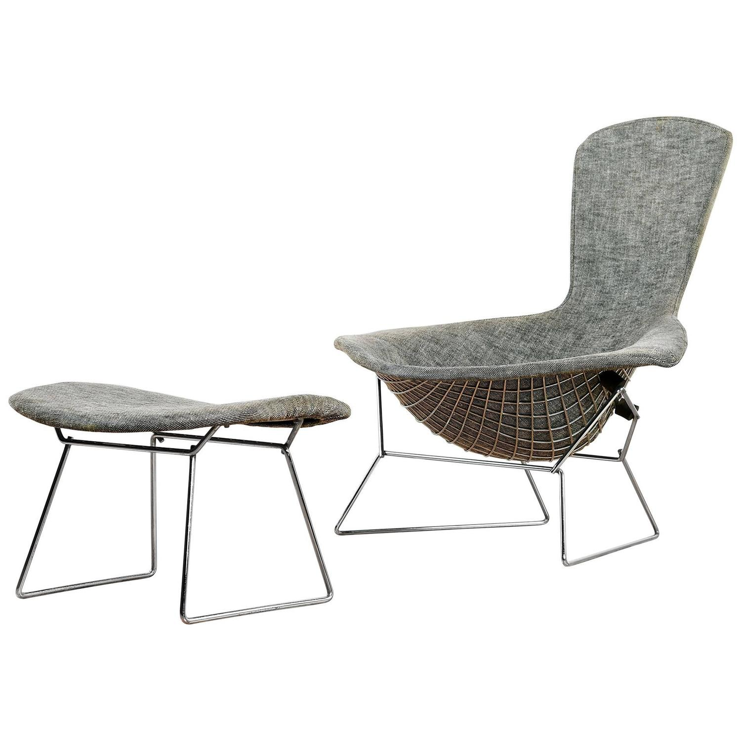 Authentic Vintage Harry Bertoia For Knoll Bird Chair And