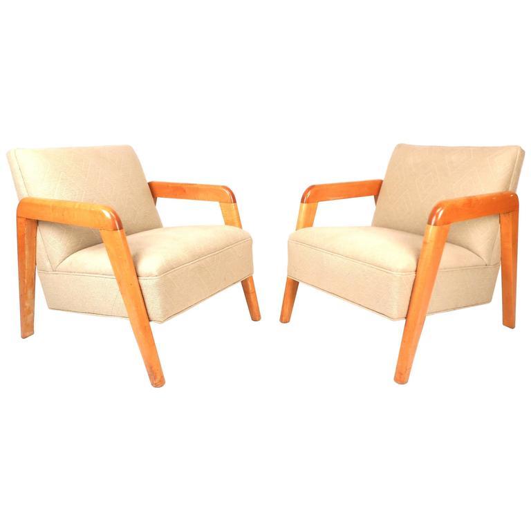 Mid-Century Modern Heywood Wakefield Style Lounge Chairs