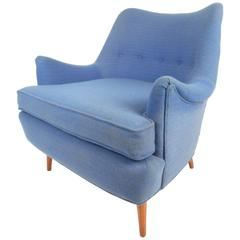 Mid-Century Modern Lounge Chair in the Style of Adrian Pearsall