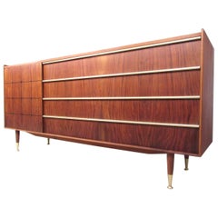 Edmond Spence Mid-Century Sideboard with Inlays and Raised Edges
